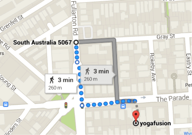 yogafusion adelaide car parks map
